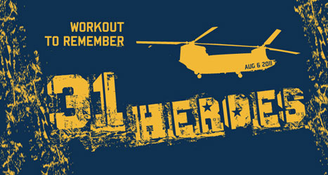 "Join us at 9 a.m. on Saturday, August 2 as we honor the heroes killed in action August 6, 2011 by completing the ""31Heroes"" WOD. Join our team and/or donate […]"